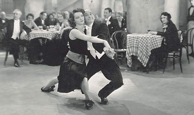 Vintage picture of couple dancing with energy!