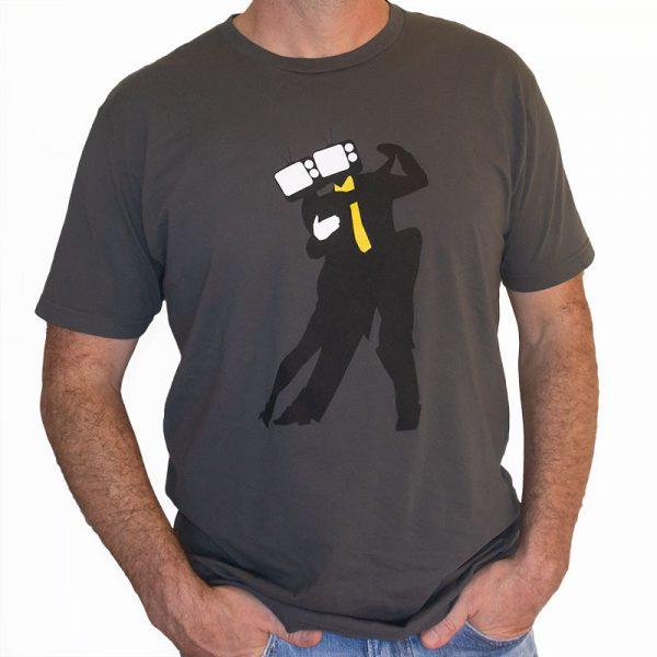 DanceTangoTV Heads Mens Shirt (front)
